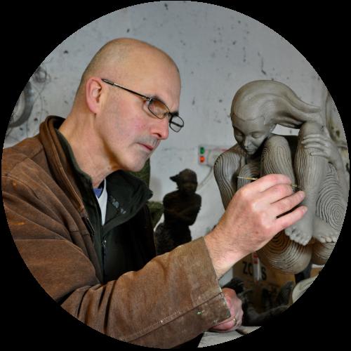 Sculptor Jonathan Hateley